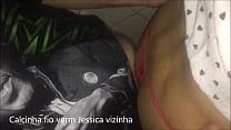 Cdzinha LimaSp Dando no cine com a Calcinha fio vermelha da Jessica vizinha e Blusinha da La 08032019