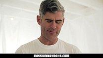 MissionaryBoyz - Silver Fox Priest Pummels A Cute Missionary Boy