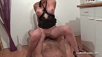 Big titted french babe hard banged and pussy shaved in the toilet Preview