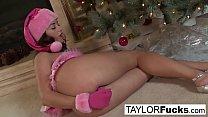 Erotics Christmas solo with busty Taylor thumbnail