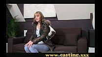 Casting - Amateur Kooky Babe Gets Her First Taste Of Porn