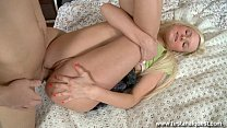 Firstanalquest.com - GIRLS FIRST TIME ANAL IS PAINFUL AND WICKED HOT FOR HER image