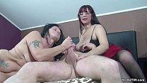 German Couple in First Time Threesome with Big Tit MILF Vorschaubild