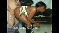 ghetto 3-some fucked by babby daddy