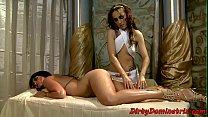 Lezdom empress dominates over her servant