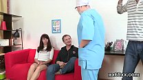 Guy assists with hymen examination and riding of virgin teenie