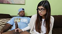 MIA KHALIFA - She's Never Tried Big Black Dick Before, So She Asks Rico Strong - Download mp4 XXX porn videos