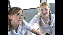 In The Schoolbus-2 cute schoolgirl blow and fuc...