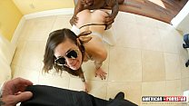 Luna Lovely's tight young pussy gets ripped by 2 cocks! Double Dick Domination @Ameriporn Vorschaubild