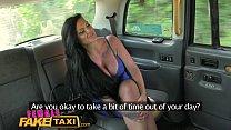 Female Fake Taxi Lesbian cab driver finger fuck...