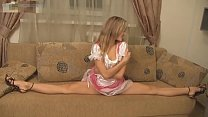 Hot Flexible Blonde Stretch on Webcam thumbnail