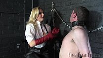 Off The Wall part2 - Mistress Akella - FemmeFataleFilms - Face Slapping video