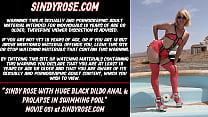 Sindy Rose With Huge Black Dildo Anal & Prolaps