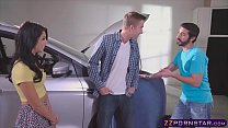 Lucky dude fucks his horny girlfriend and her stepsis - 9Club.Top