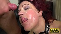 Dominated milf redhead gets mouth fucked
