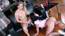 Step sisters anal strap on fucking