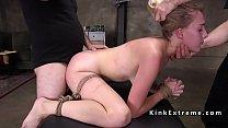 Blonde slave drooling on huge dick's Thumb