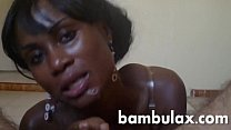 African ebony teen sucking and get full of cum