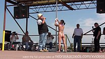 naked amateur pole dancing finalists at iowa biker rally Preview