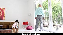 ExxxtraSmall - Lovely Little Spinner Pounded By Her Step-Dad Image