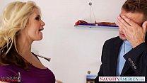 Busty Sarah Vandella gets facialized