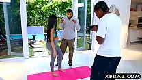 Fake Kim Kardashian with her huge ass in a yoga pants fuck preview image
