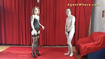 Redhead agent whore does sexy dance for a begin...'s Thumb