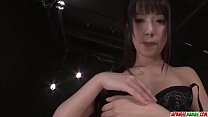Kotomi Asakura stands nude and works large dildo in her tiny holes - More at Japanesemamas com