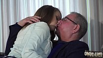 15799 Hot old and young sex between grandpa and sweet teen preview