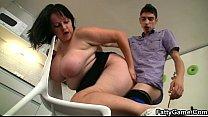 BBW seduces slim repairman for money