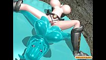 Shemale 3d hentai with four boobs hot poked a bondage anime pornhub video