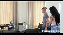 Busty Aunt Seduces step-Nephew staying over| Famxxx.com thumbnail
