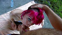 Cute Punky teen fucked in the ass in a cave thumbnail