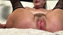 Horny Wife Spreads Her Pussy And Masturbates With Her Favorite Toy