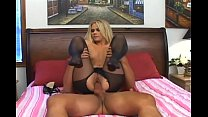 Petite Sophia fucked in crotchless pantyhose