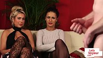Stunning UK babes instructing submissive