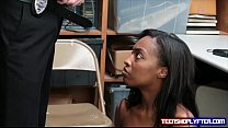 Black teen Daya Knight bent over desk and fucked doggy preview image