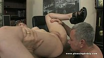 Cute blond Miss Marie fuck her old boss to keep her job image