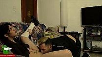 Couple touching and masturbating on the sofa IV 071 image