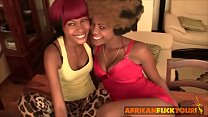 Amateur ebony ladies kissing foreplay with African fuck tour owner