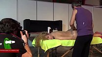 Massage in the pussy to the blonde with curly hair ADR00026