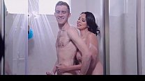 Milf fucks boy in shower by Brazzers thumbnail