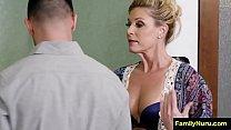 Highschool milf teacher doing erotic massage to student Image