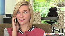 Horny beautiful babe Chloe Brooke fucks her stepbros handsome friend