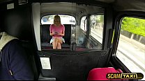 Gorgeous blonde Sienna gets a quick fucked in the backseat by pervy driver preview image