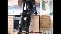 Hot Girl in Black Latex and High Heels Vorschaubild