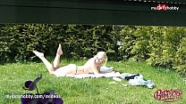 MyDirtyHobby - Amazing blonde teen sunbathing! thumb