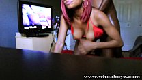 Black Teen Ebony Banks gets her first Anal Creampie by BBC thumbnail