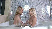 Lubed - Alex Grey and Lily Rader's soapy bodies are showered by cock Vorschaubild