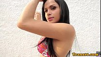 Latina Ts Beauty Bouncing Booty On Cock